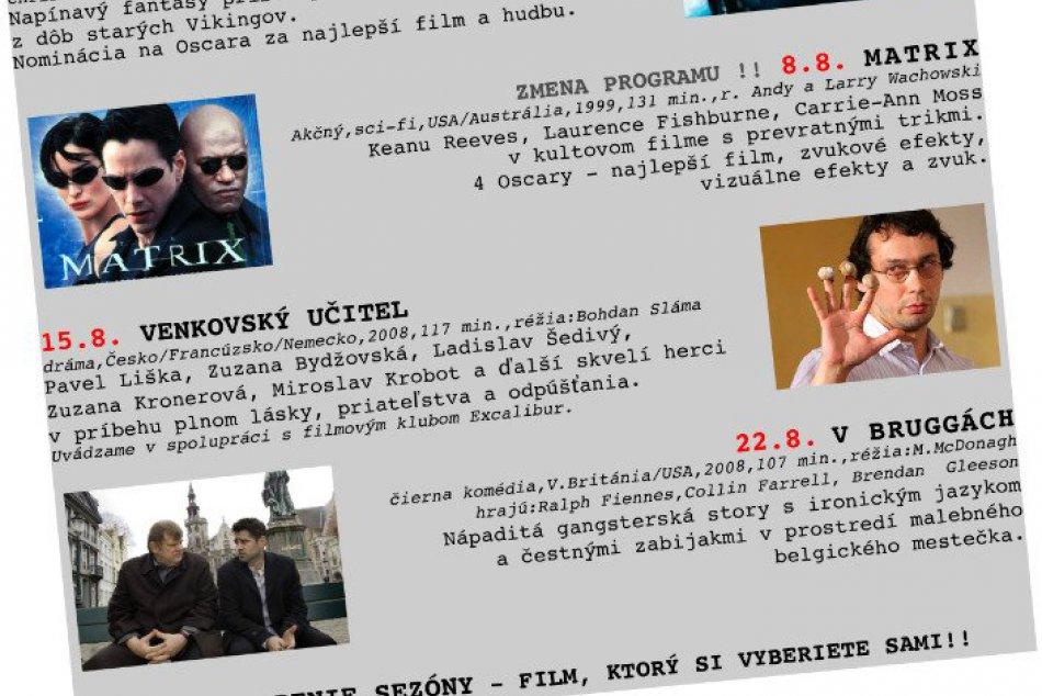 Štvrtkové letné kino na Hvezdárni v Rožňave