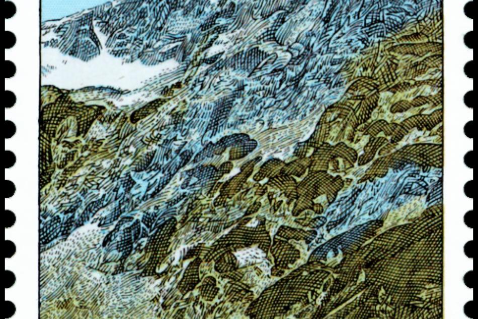 Malá Studená dolina a Brnčalova chata na poštových známkach