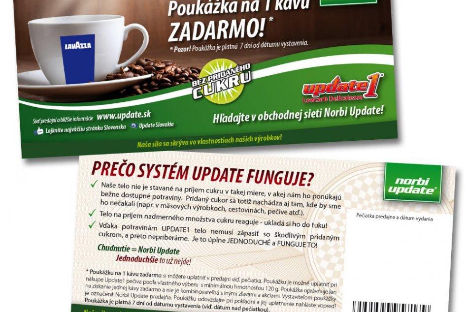 Predajne Norbi Update lákajú kávou zadarmo a pečivom za polovičnú cenu