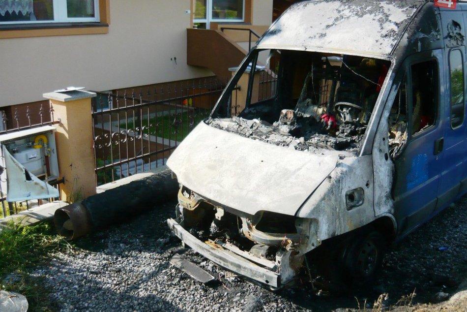 Požiar auta v Gbeľanoch