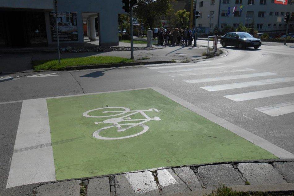 Nové prvky cyklistického dopravného systému v Žiline