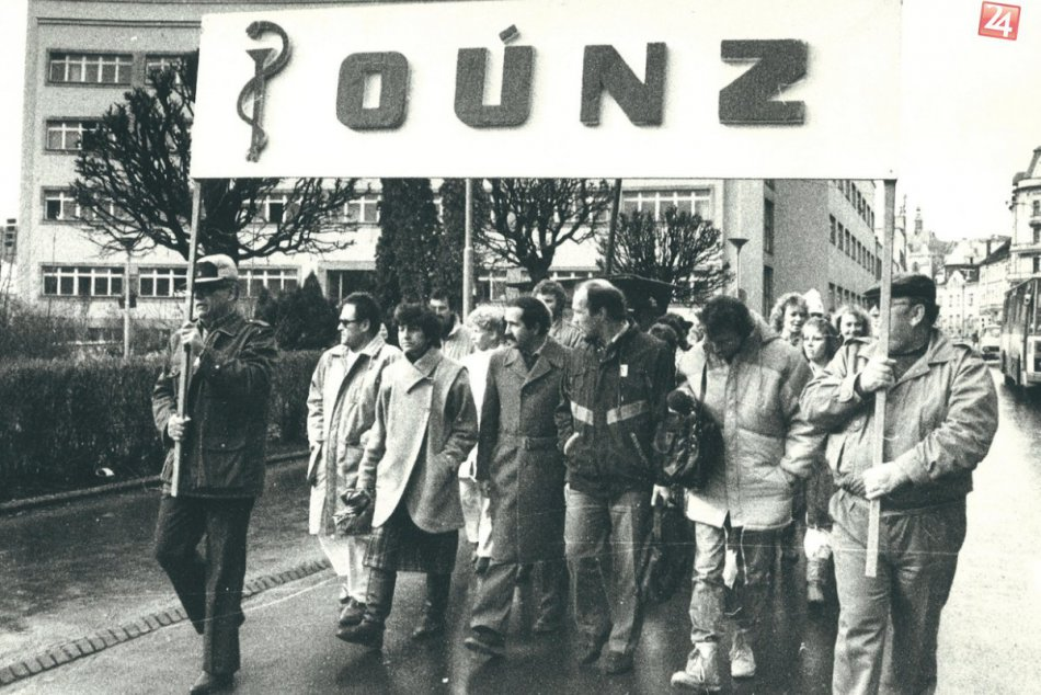 Generálny štrajk na banskobystrickom Námesti SNP v novembri 1989
