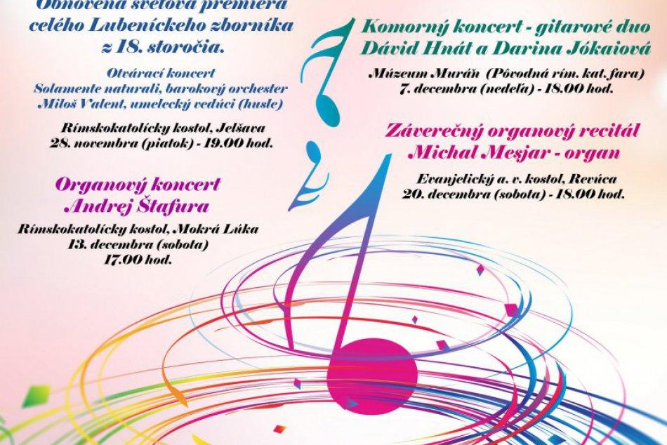 Revúcke adventné koncerty plagát