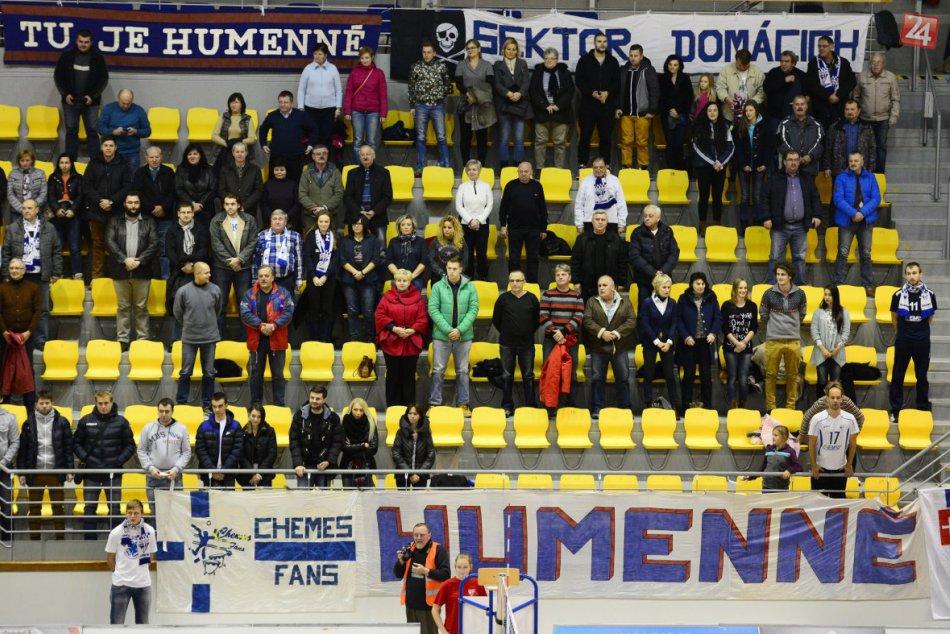 Možno posledný domáci zápas VK Chemes, v hale aj minúta ticha