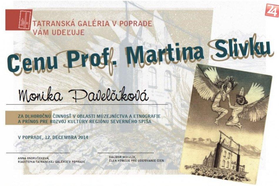 Tatranská galéria oceňovala: Cenu profesora Martina Slivku získali tri osobnosti