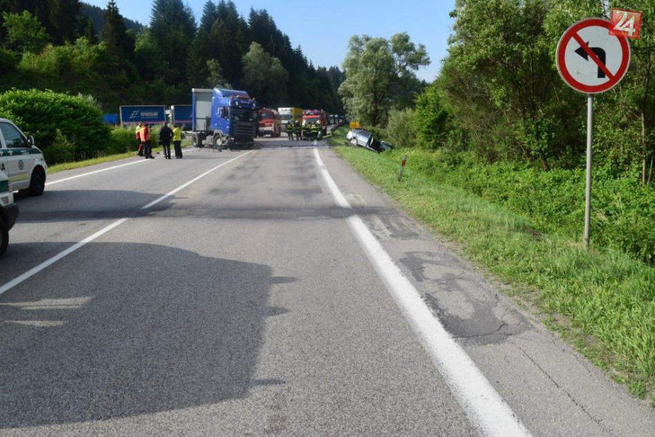 Vážna dopravná nehoda na Kysuciach