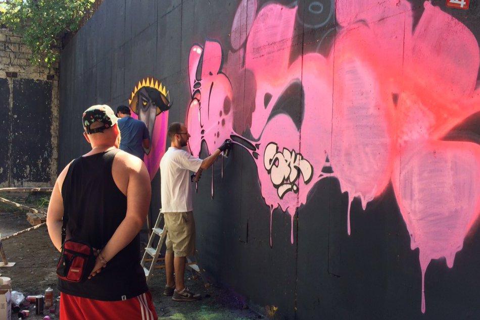 Legálna Graffiti zóna v Petržalke