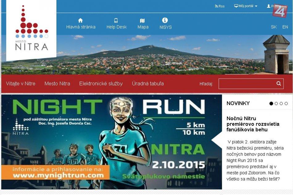 Mesto Nitra s novým webom: Pripravuje sa na ostré spustenie elektronických služi