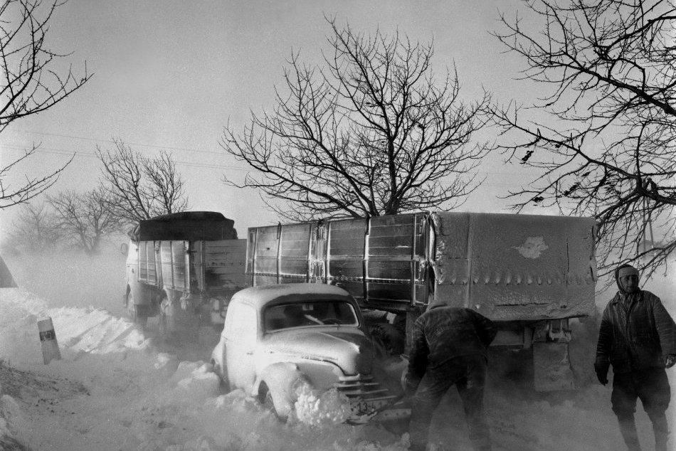 Zima v meste v minulosti