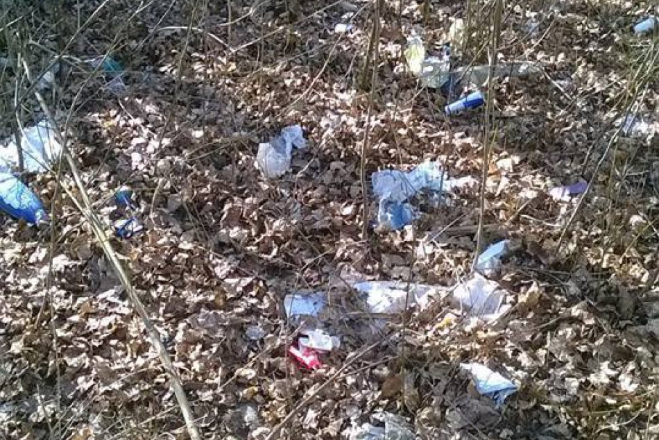 Odpadky v považskobystrickom amfiteátri