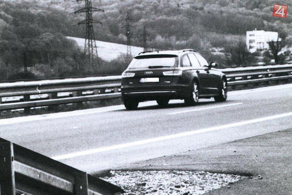 Policajné FOTO: Vodič prekročil rýchlosť o 106 km/h