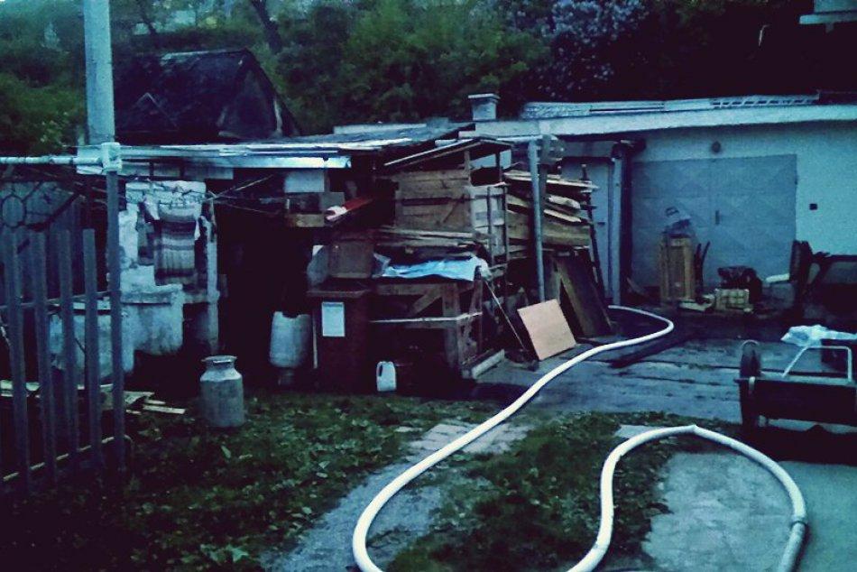 Obrazom: Požiar v lokalite Rožňavská Baňa