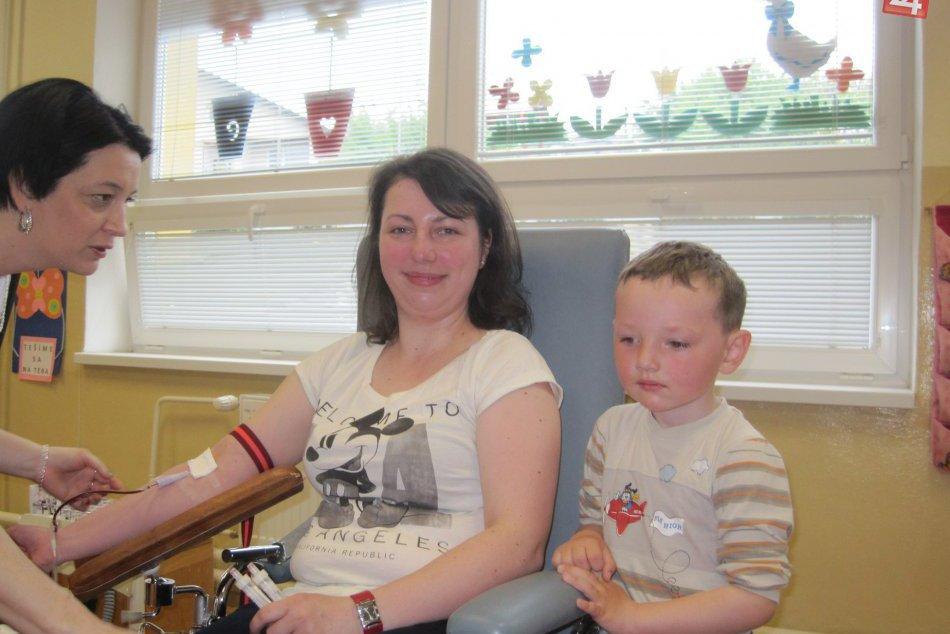 Darovať krv síce nemohli, ale aspoň podporili svojich rodičov