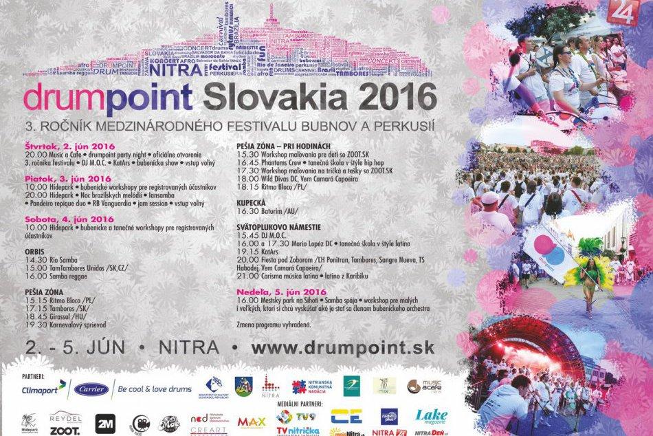 KOMPLETNÝ PROGRAM: Nitra bude dejiskom medzinárodného bubeníckeho festivalu