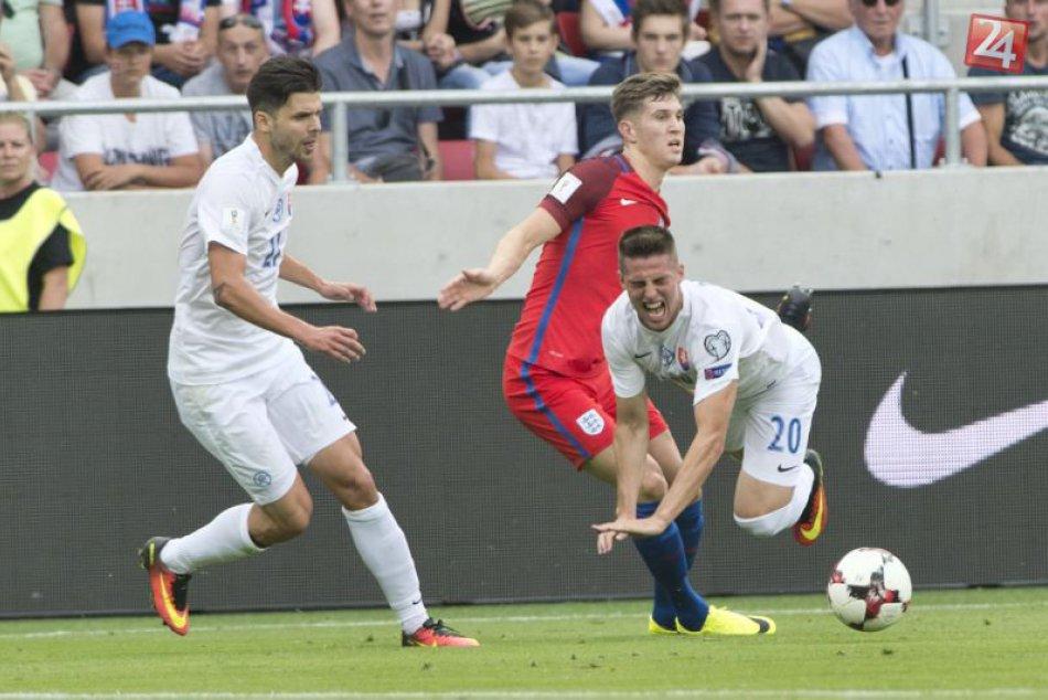 Kvalifikácia o MS 2018: Slovensko - Anglicko 0:1