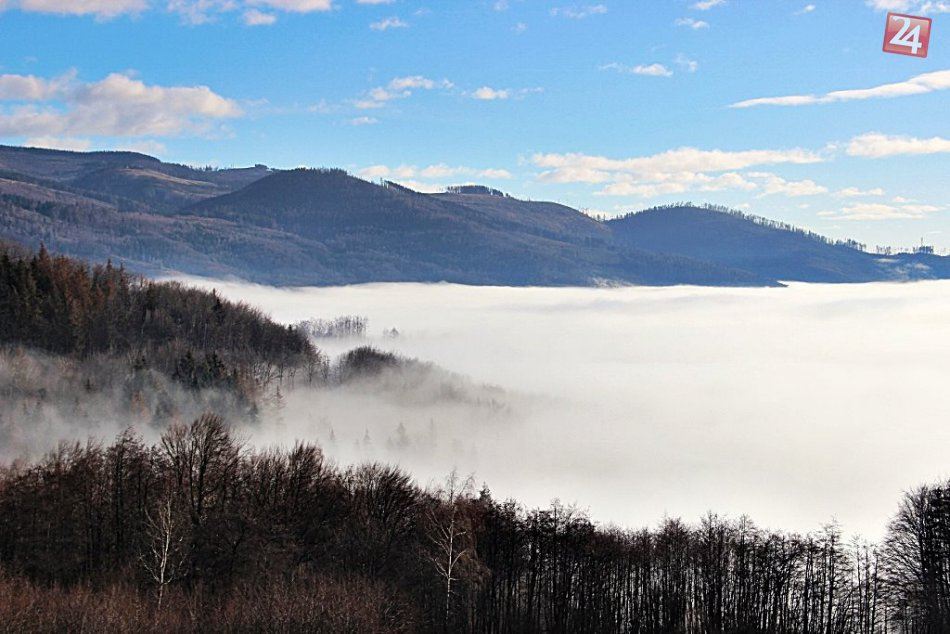 Obrazom: Inverzia v okolí Dobšinského kopca