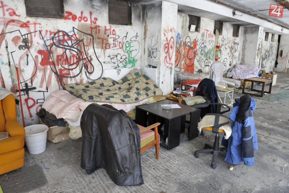 Ľudia bez domova v Bratislave