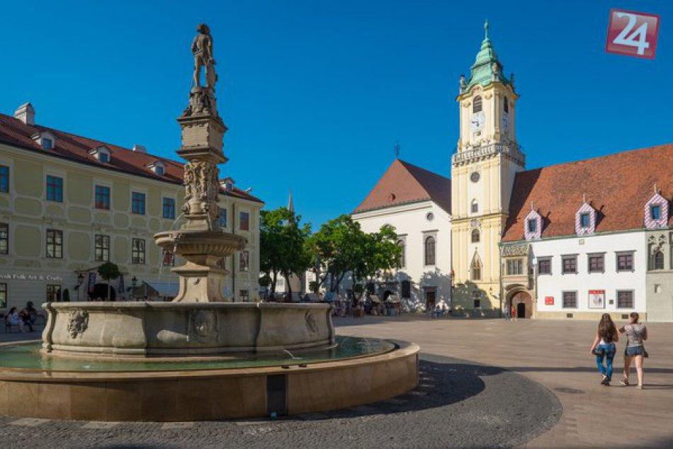 Spustenie bratislavských fontán