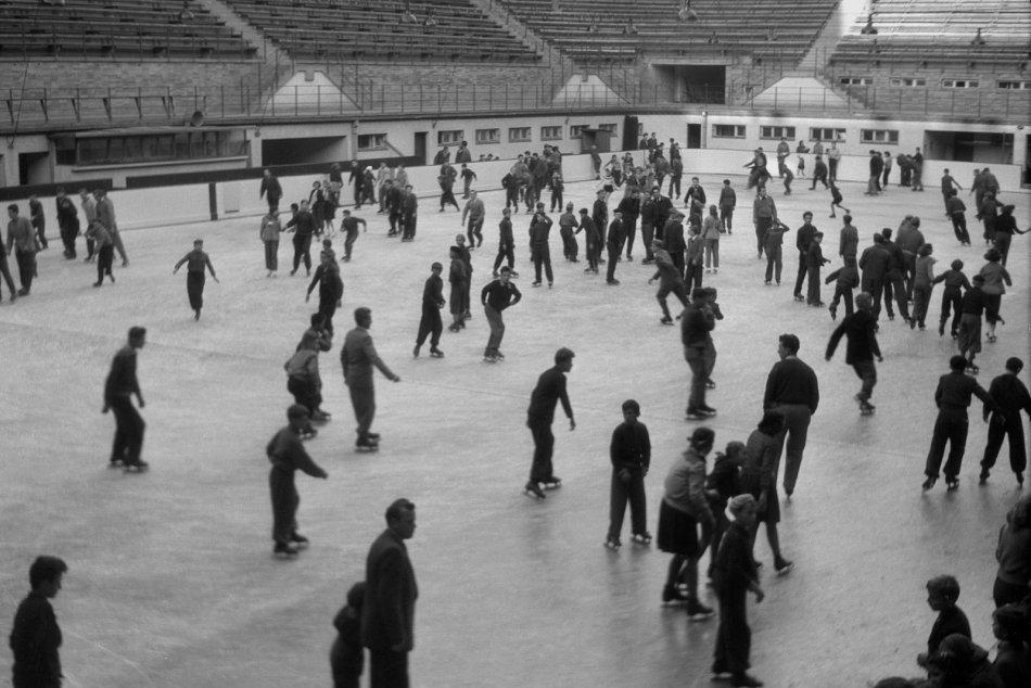 Historické zábery - korčuľovanie na ľade