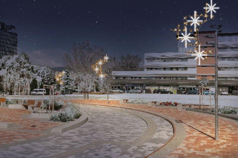 Vianočná výzdoba v Považskej: Vizualizácia nových častí