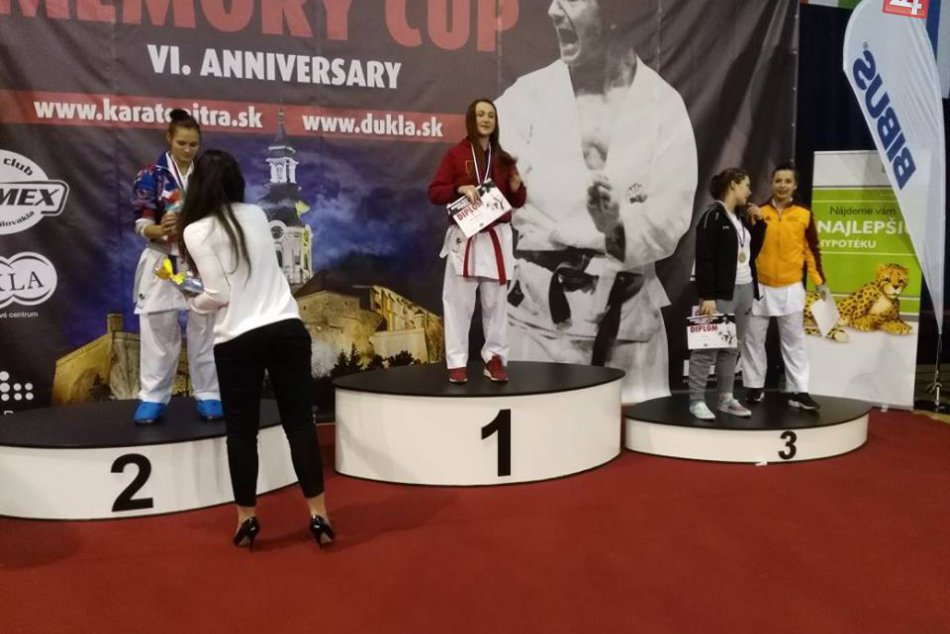 FOTO: Pretekári žilinského Karate klubu na Memoriali Rudolfa Farmadina