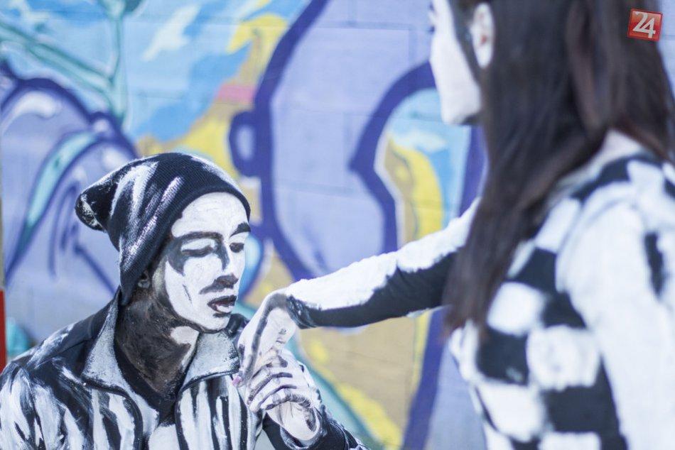 Parádne zábery, ktoré treba vidieť: Živé graffiti v Prešove!