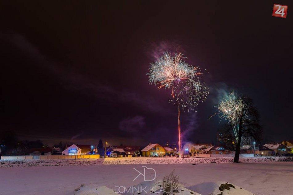 FOTO: Silvestrovský ohňostroj v Michalovciach