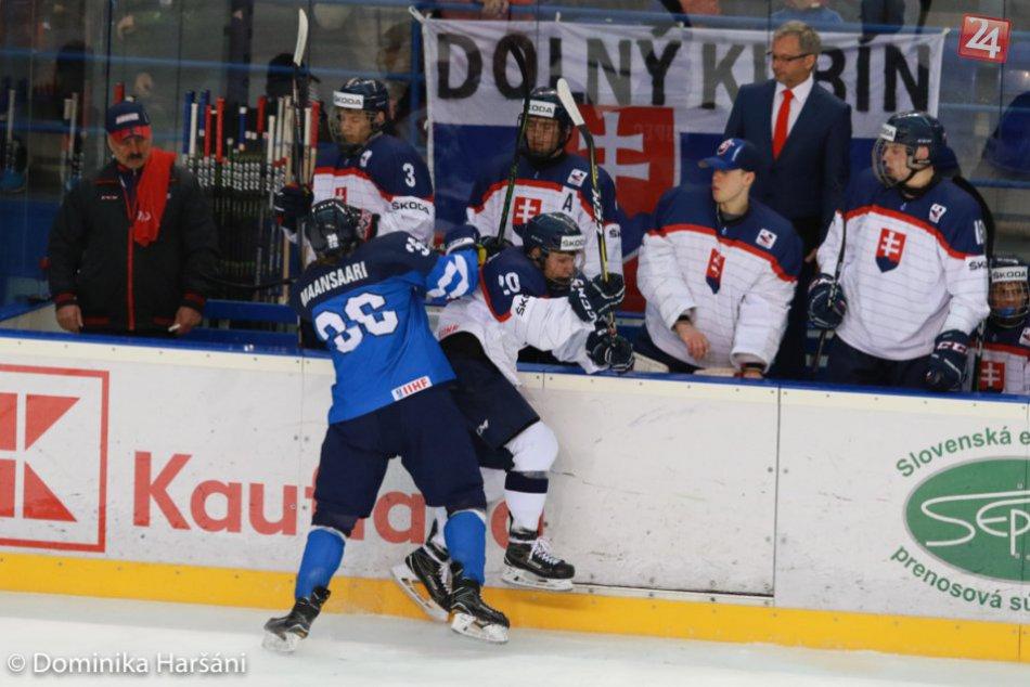 Prehra po gólovej prestrelke v druhej tretine: Mladí Slováci podľahli Fínom