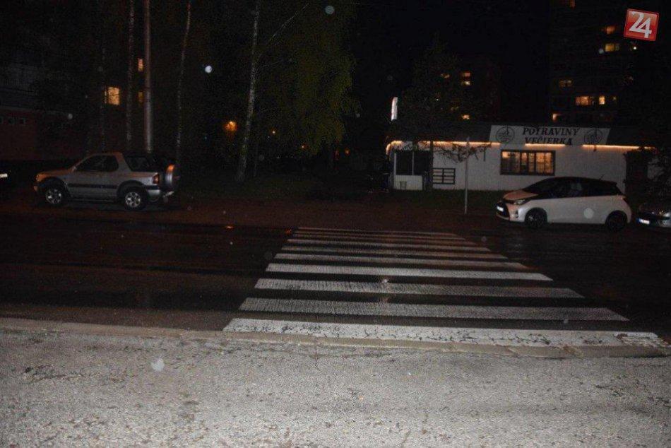 V OBRAZOCH: Polícia hľadá svedkov nehody na bystrickom priechode