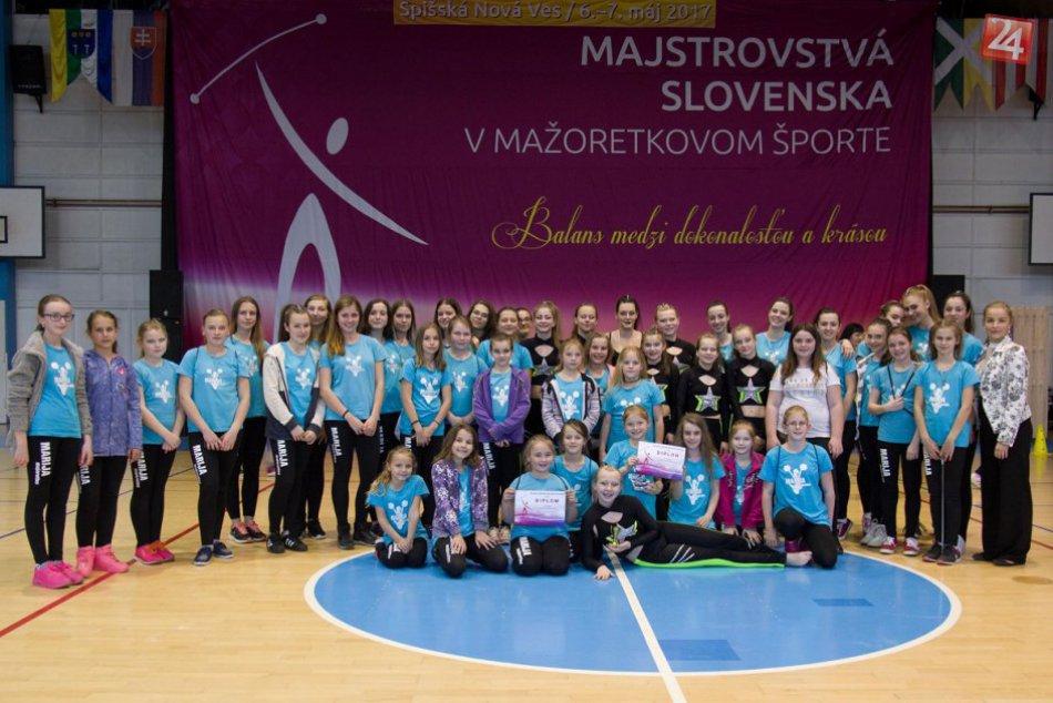 Úspešné považskobystrické mažoretky: Zábery z majstrovstiev Slovenska