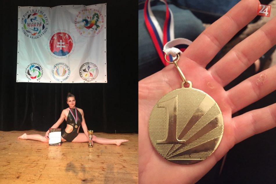 FOTO: Mladá Hlohovčanka Dominika vybojovala titul majsterky Slovenska