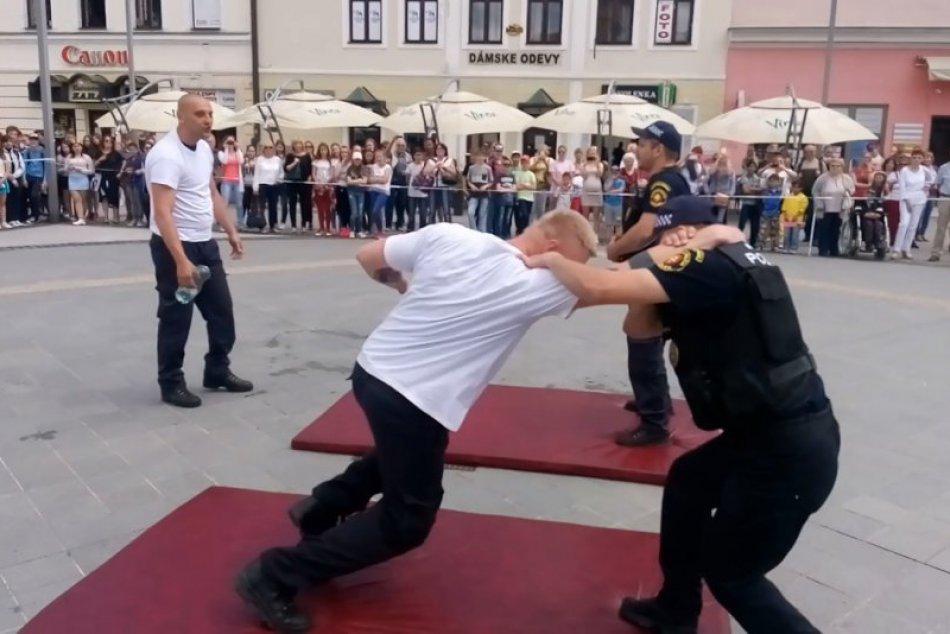 V OBRAZOCH: Zásah zvolenskej polície na Dňoch mesta