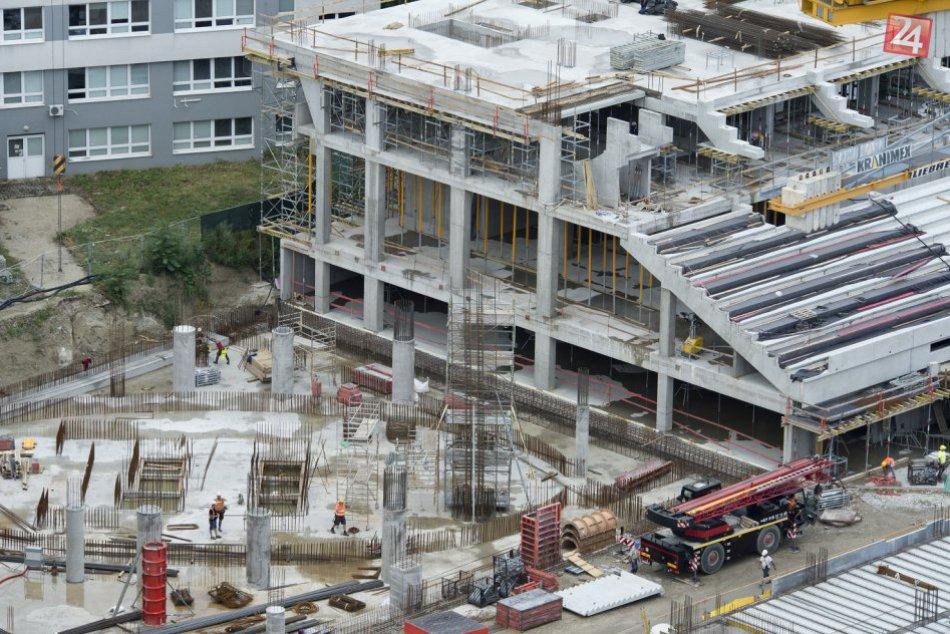 Výstavba Národného futbalového štadióna (júl, 2017)