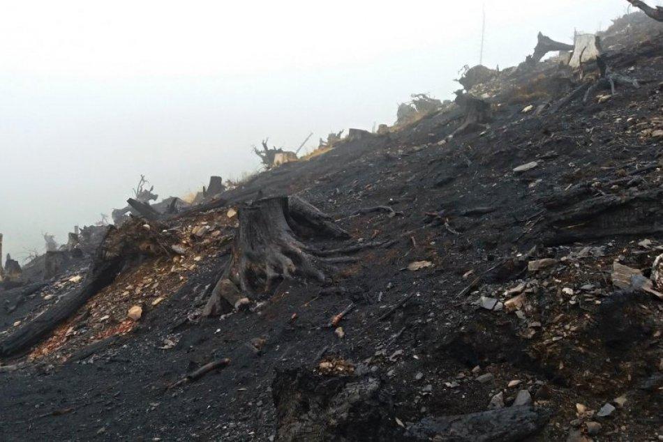 Obrazom: Foto priamo z požiaroviska na Súľovej