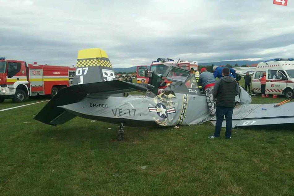 Na letisku v Prievidzi spadlo lietadlo: Jedna osoba nehodu neprežila