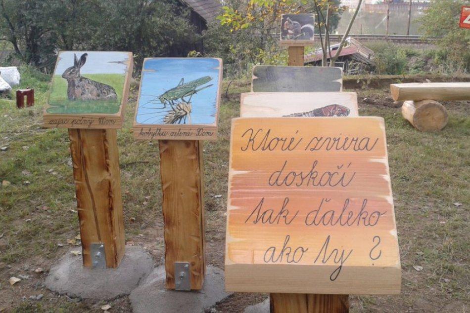 Náučno-oddychová zóna pre deti v Milochove: Pozrite, ako vyzerá a ako vznikala