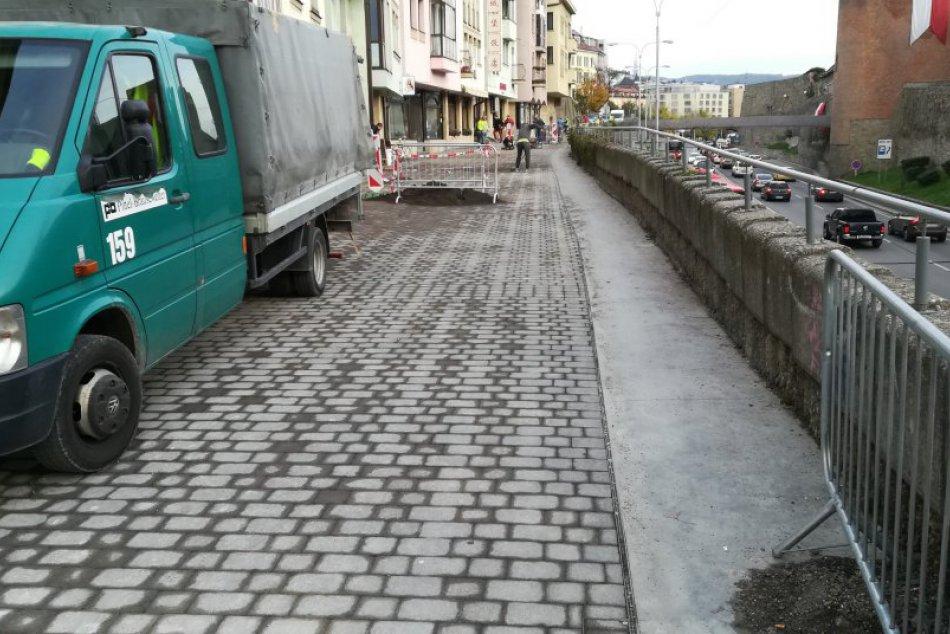 Nová dlažba na Židovskej ulici