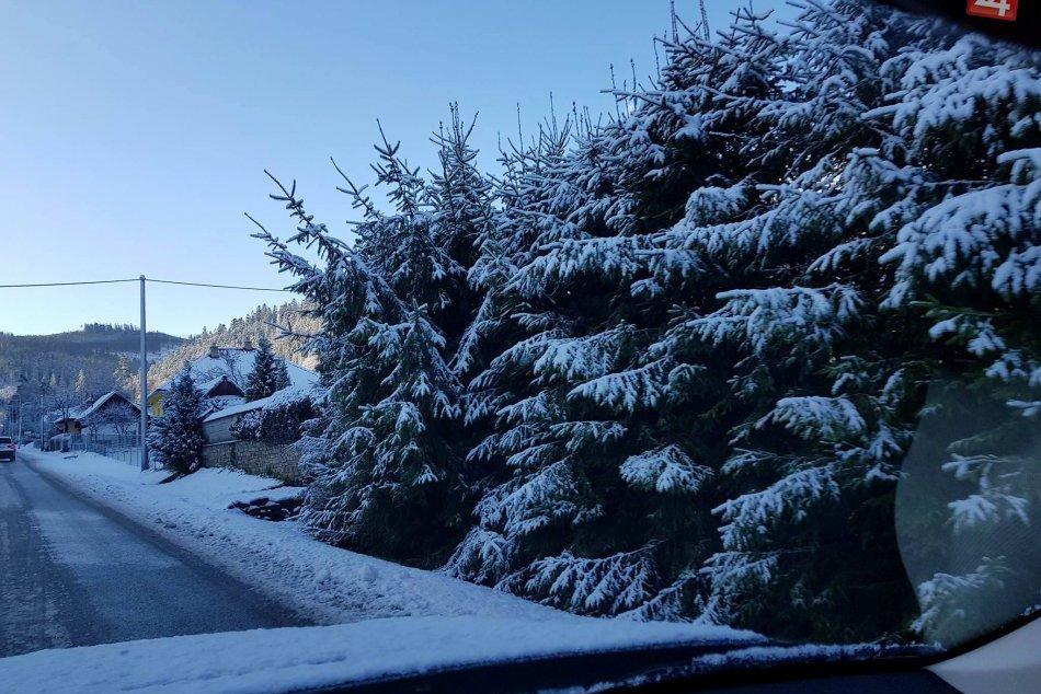 Počasie sa predviedlo aj v Spišskej a okolí: FOTKY prvého snehu