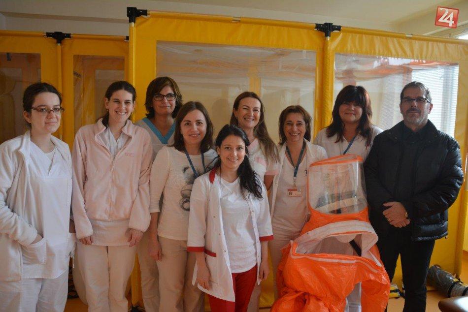 V OBRAZOCH: Cvičenie biohazard tímu v Rooseveltovej nemocnici