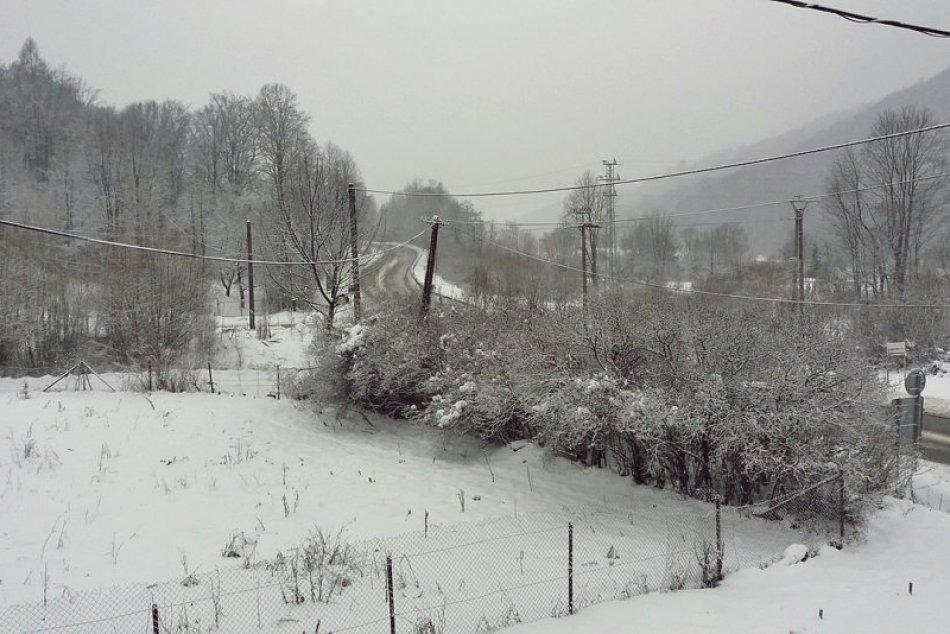 Obrazom: Husté sneženie v okrese Rožňava
