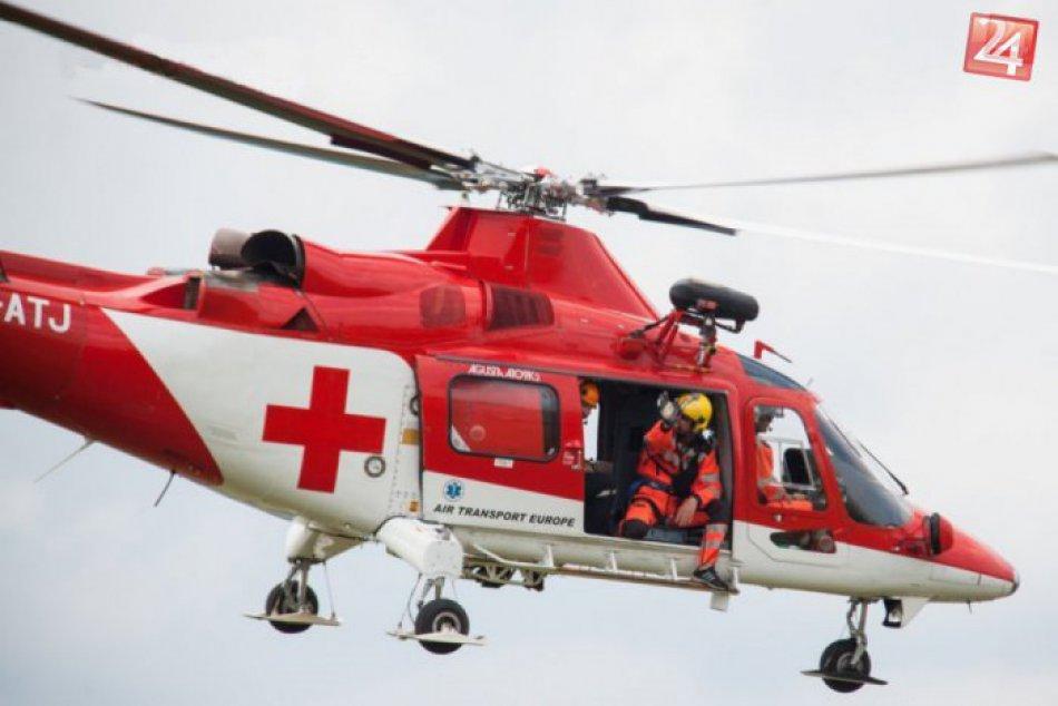 FOTO: Vrtuľníková záchranná zdravotná služba