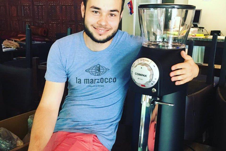 FOTO: Svet Trnavčana Lukáš Záhradníka, majstra sveta v príprave kávy
