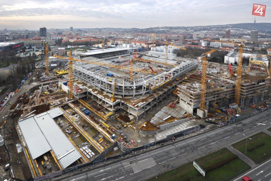 Výstavba Národného futbalového štadióna na Tehelnom poli (január 2018)