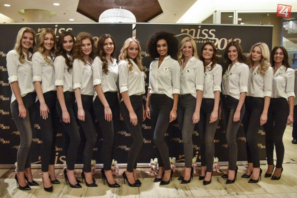 Finalistky súťaže krásy Miss Slovensko 2018