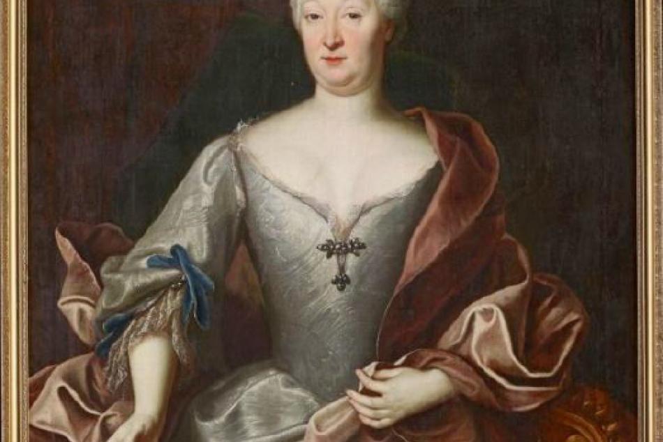Olejomaľba na plátne z roku 1724: Juliana Terézia Althanová