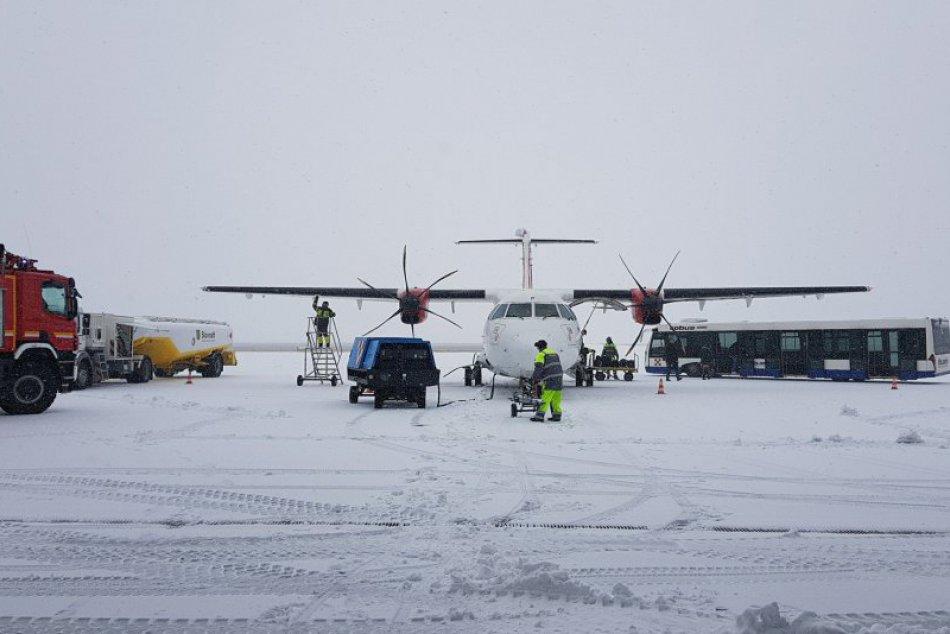 Letisko M. R. Štefánika v zime