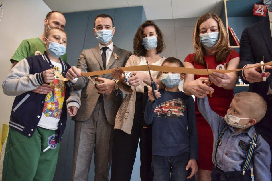 Otvorenie novej herne na detskej onkológii.