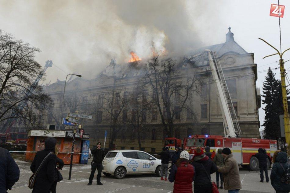 Zábery priamo z miesta: V centre Košíc vypukol ničivý požiar, FOTO