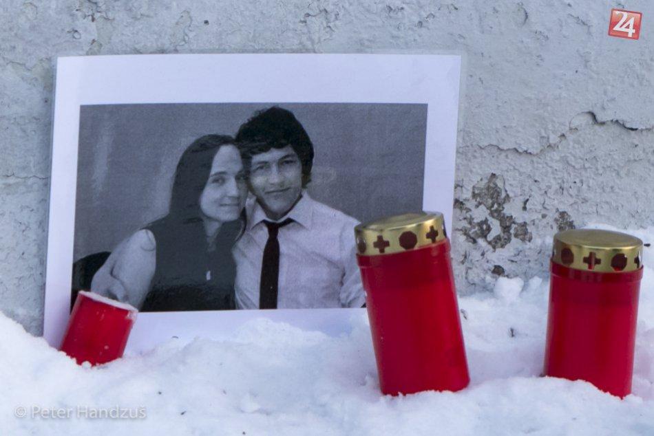 Sviečka za Janka Kuciaka a Martinku Kušnírovú v Poprade