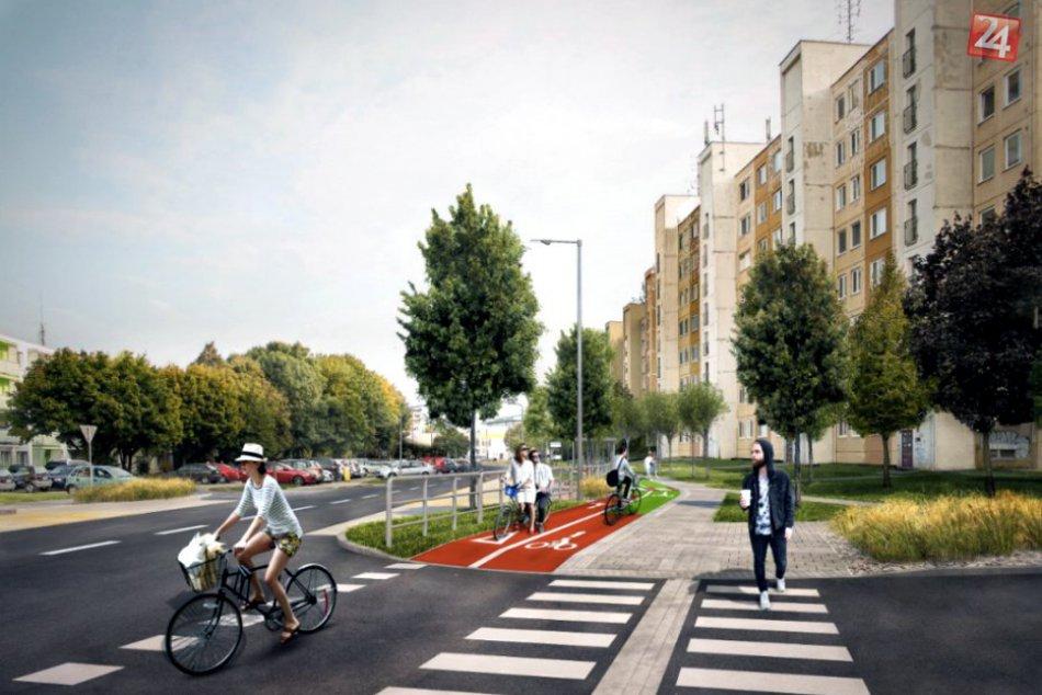 OBRAZOM: Nové vizualizácie cyklotrasy na Saleziánskej ulici